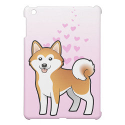 Case Savvy iPad Mini Glossy Finish Case with Akita Phone Cases design