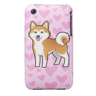 Akita Inu / Shiba Inu Love Case-Mate iPhone 3 Case