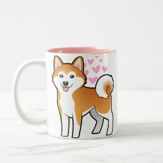 Akita Inu / Shiba Inu Love Coffee Mug