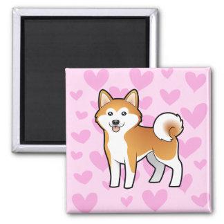 Akita Inu / Shiba Inu Love Magnet