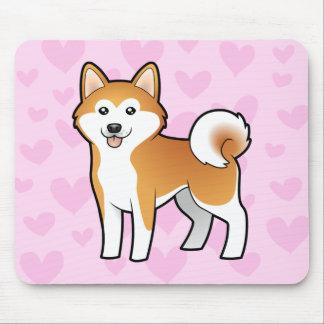 Akita Inu / Shiba Inu Love Mousepad