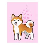 Akita Inu / Shiba Inu Love Postcard