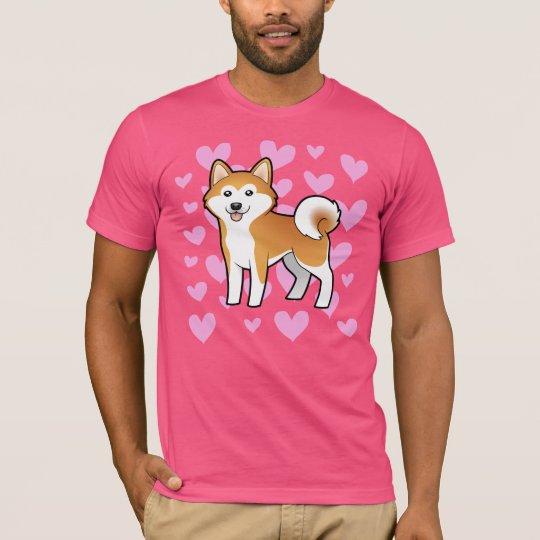 Akita Inu / Shiba Inu Love T-Shirt