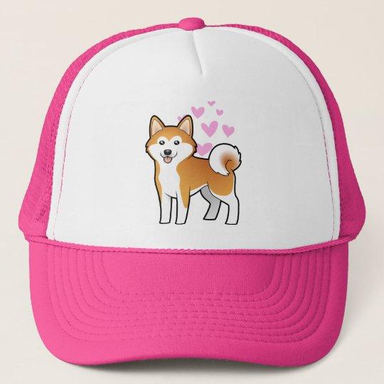 Akita Inu / Shiba Inu Love Trucker Hat