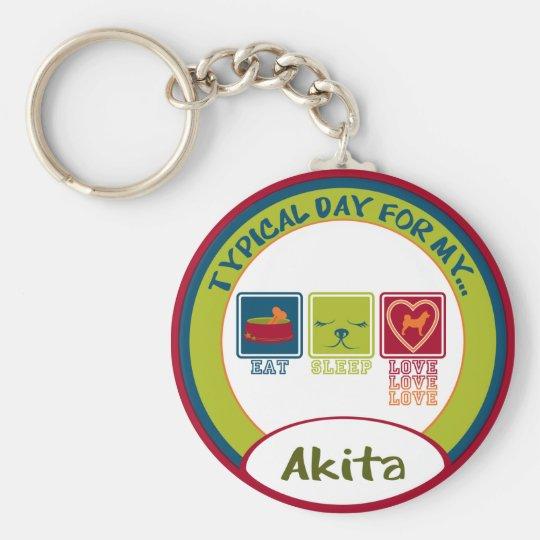Akita Keychain