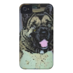 Case-Mate iPhone 4 Barely There Universal Case with Akita Phone Cases design