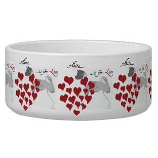 Akita Love Large Dog Bowl