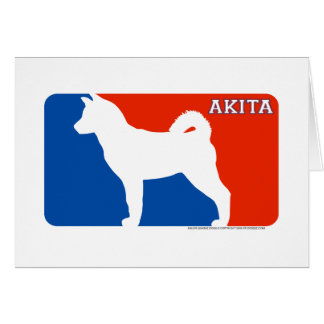Akita Major League Dog Card