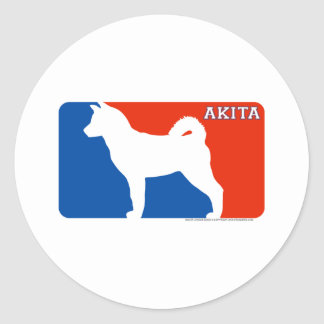 Akita Major League Dog Sticker