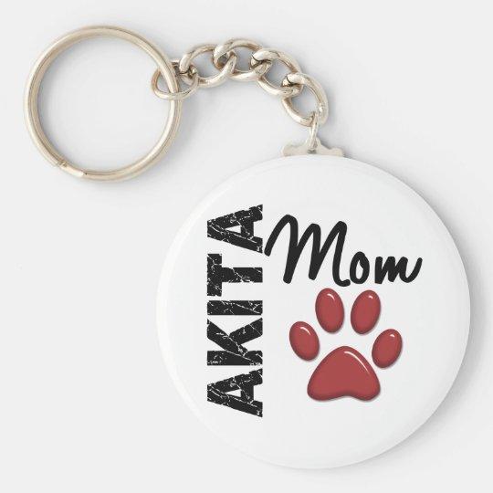 Akita Mom 2 Keychain