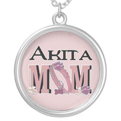Akita MOM Round Pendant Necklace