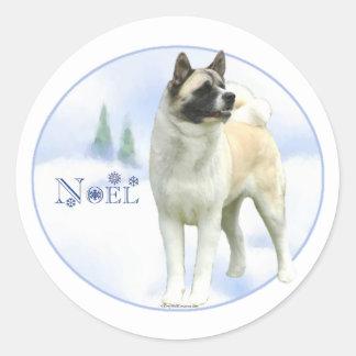 Akita Noel Stickers