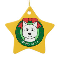 Akita Ornament