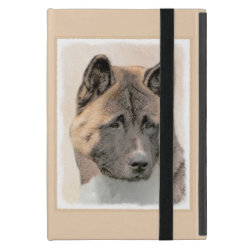 Akita Painting - Cute Original Dog Art Case For iPad Mini
