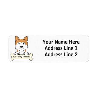 Akita personalizado etiquetas de remite