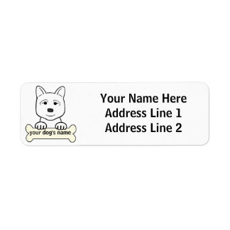 Akita personalizado etiqueta de remitente