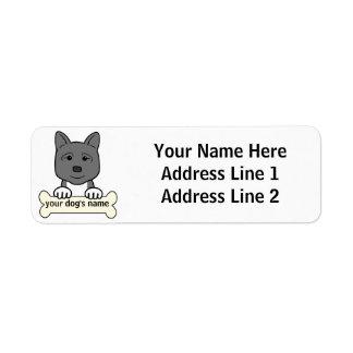 Akita personalizado etiqueta de remite
