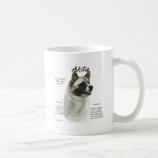 Akita (pinto) History Design Classic White Coffee Mug