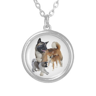 Akita Play Silver Plated Necklace