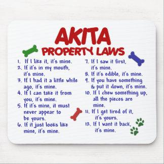 AKITA Property Laws 2 Mouse Pad