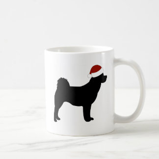 Akita Santa Hat Coffee Mug