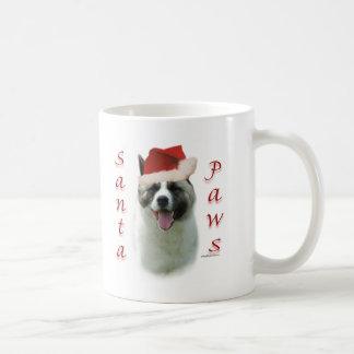 Akita Santa Paws Coffee Mug