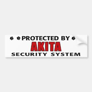 Akita Security System Car Bumper Sticker
