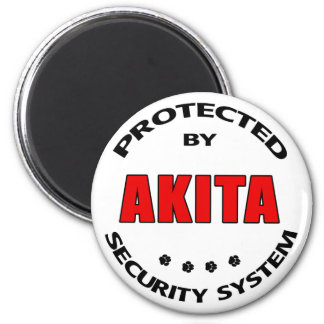 Akita Security System Refrigerator Magnets