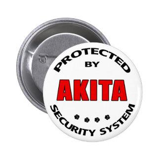 Akita Security System Pinback Button