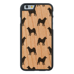 Carved ® iPhone 6 Bumper Wood Case with Akita Phone Cases design
