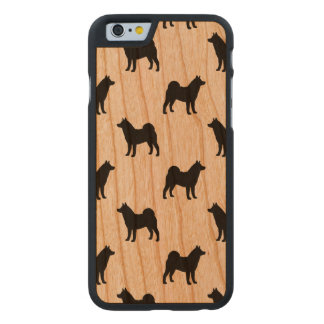 Akita Silhouettes Pattern Carved® Cherry iPhone 6 Case