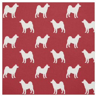 Akita Silhouettes Pattern Fabric