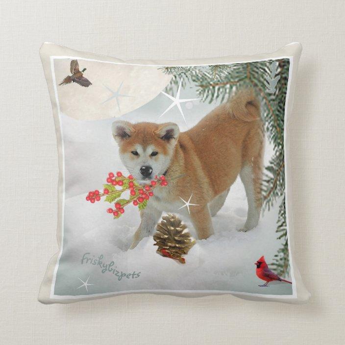 snow berries pillowos throw pillow
