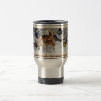 Akita Snow Play Travel Mug