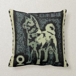 Akita Stamp Pillow