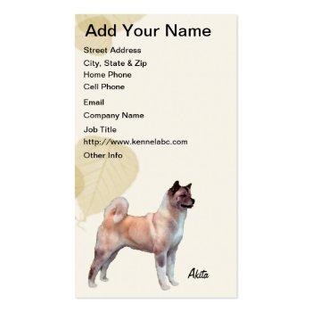 Akita ~ Tan Leaves Motiff Business Card Templates
