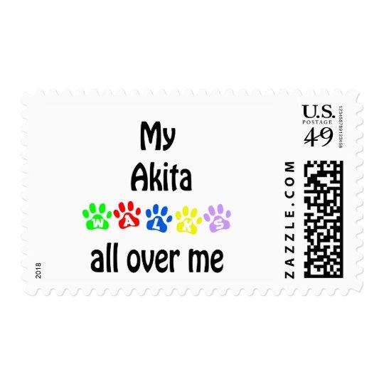 Akita Walks Design Postage