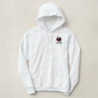 Akitas Leave Paw Prints Embroidered Shirt (Hoodie)
