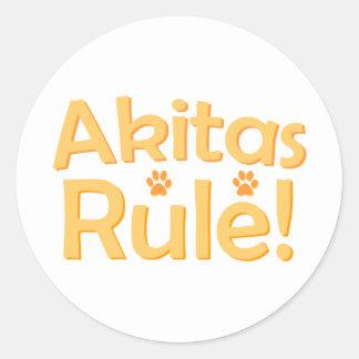 Akitas Rule! Classic Round Sticker