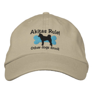 Akitas Rule Embroidered Hat