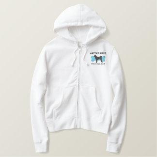 Akitas Rule Embroidered Shirt (Zip Hoodie)
