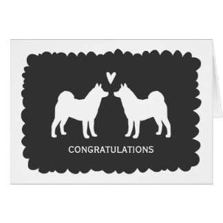 Akitas Wedding Congratulations Card