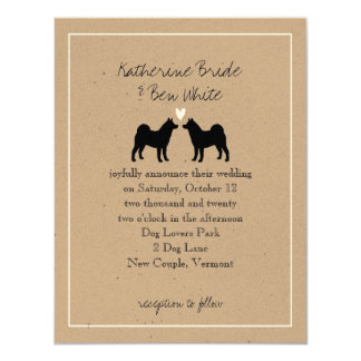 Akitas Wedding Invitation