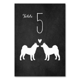 Akitas Wedding Table Card