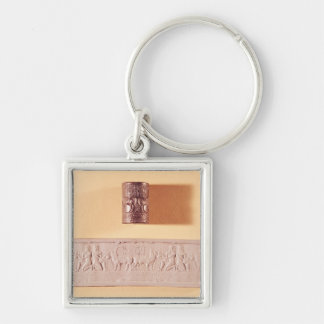 Akkadian cylinder seal and impression keychain