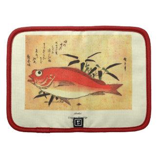 Akodai - Colorful 19th Century Japanese Fish Print Folio Planners