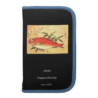 Akodai - Colorful 19th Century Japanese Fish Print Organizers