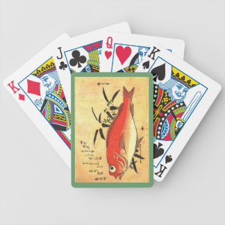 Akodai - Colorful 19th Century Japanese Fish Print Playing Cards