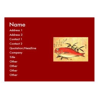 Akodai - Hiroshige's Colorful Japanese Fish Print Business Card