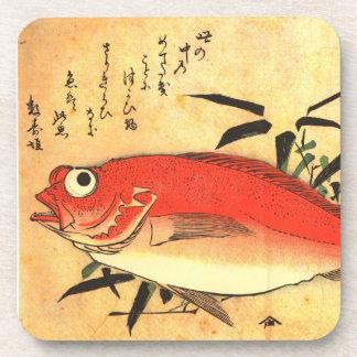 Akodai - Hiroshige's Colorful Japanese Fish Print Coaster